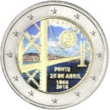 Portugali 2016 2 € Huhtikuun 25. päivän silta 50v VÄRITETTY