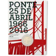 Portugali 2016 2 € Huhtikuun 25. päivän silta 50v COINCARD