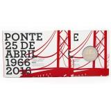 Portugali 2016 2 € Huhtikuun 25. päivän silta 50v PROOF