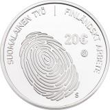 Suomi 2016 20 € Suomalainen työ HOPEA PROOF