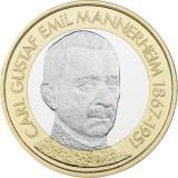 Suomi 2017 5 € Suomen presidentit - C.G.E. Mannerheim UNC