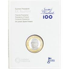Suomi 2017 5 € Suomen presidentit - J.K. Paasikivi PROOF
