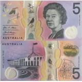 Australia 2016 5 Dollar P62a UNC