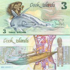 Cookinsaaret 1987 3 Dollars P3a UNC