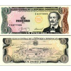 Dominikaaninen tasavalta 1988 5 Pesos Oro P126c UNC