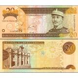 Dominikaaninen tasavalta 2002 20 Pesos Oro P169b UNC