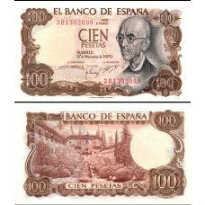 Espanja 1970 100 Pesetas P152a UNC