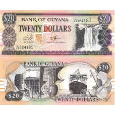 Guyana 2016 20 Dollars P30f UNC