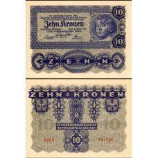 Itävalta 1922 10 Kronen P75 UNC
