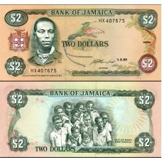 Jamaika 1993 2 Dollars P69e UNC
