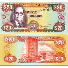 Jamaika 1995 20 Dollars P72e UNC