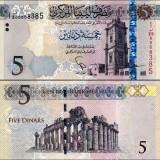 Libya 2015 5 Dinars P77 UNC