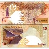 Qatar 2008 10 Riyals P30 UNC