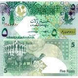 Qatar 2008 5 Riyals P29-U2 UNC
