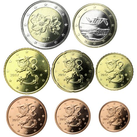 Suomi 2017 1 c - 2 € Irtokolikot UNC