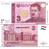 Tajikistan 2010 3 Somoni P20 UNC