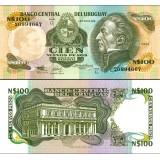 Uruguay 1987 100 Nuevos Pesos P62A UNC