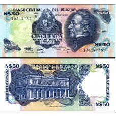 Uruguay 1989 50 Nuevos Pesos P61A-G UNC