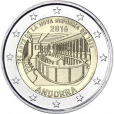 Andorra 2016 2 € Parlamenttiuudistus 150 vuotta BU