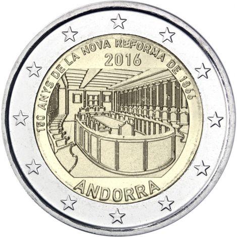 Andorra 2016 2 € Parlamenttiuudistus 150 vuotta COINCARD