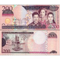 Dominikaaninen tasavalta 2007 200 Pesos Oro P178a UNC