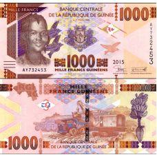 Guinea 2015 1000 Francs P48a UNC