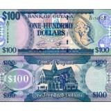 Guyana 2016 100 Dollars P36 UNC