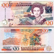Itä-Karibian valtiot 2012 20 Dollars P53 UNC