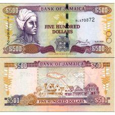 Jamaika 2008 500 Dollars P85f UNC