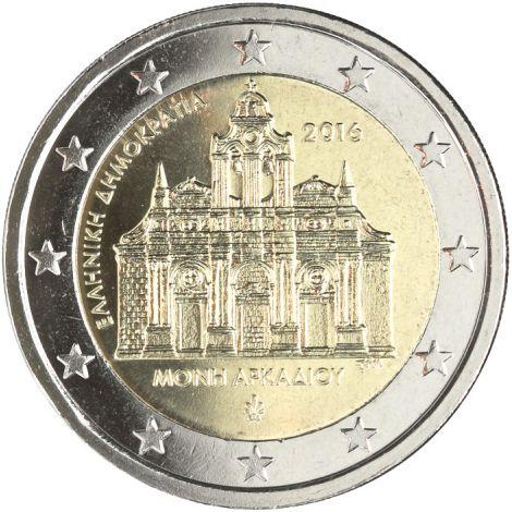 Kreikka 2016 2 € Arkadin luostari UNC