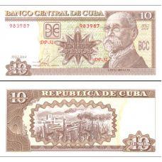 Kuuba 2014 10 Pesos P117p UNC
