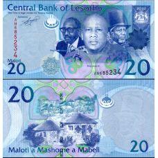Lesotho 2010 20 Maloti P22 UNC