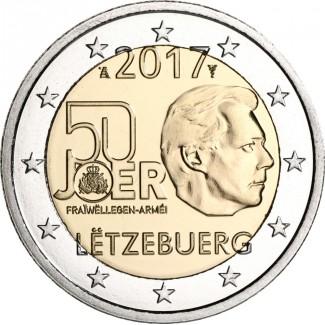 Luxemburg 2017 2 € Vapaaehtoinen asepalvelus UNC