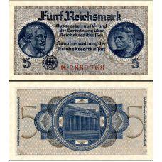 Saksa 1939 5 Reichsmark PR138a UNC