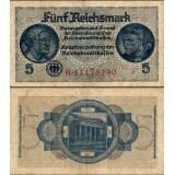 Saksa 1939 5 Reichsmark P553b VG