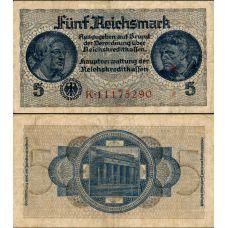 Saksa 1939 5 Reichsmark PR138b VG