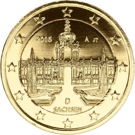 Saksa 2016 2 € Sachsen KULLATTU