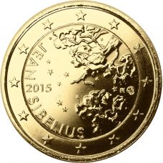 Suomi 2015 2 € Jean Sibelius KULLATTU