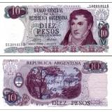 Argentiina 1973-76 10 Pesos P295 UNC