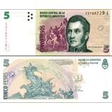 Argentiina 2014 5 Pesos P353 UNC
