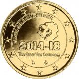 Belgia 2014 2 € Ensimmäinen maailmansota 100 vuotta KULLATTU
