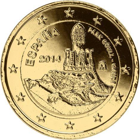 Espanja 2014 2 € Antonio Gaudi KULLATTU