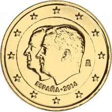Espanja 2014 2 € Felipe IV KULLATTU
