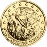 Italia 2005 2 € Euroopan perustuslakisopimuksen 1. vuosipäivä KULLATTU