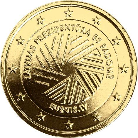 Latvia 2015 2 € EU-puheenjohtajuus KULLATTU