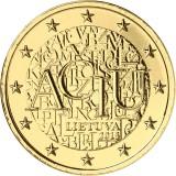 Liettua 2015 2 € Liettuan kieli KULLATTU