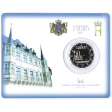 Luxemburg 2017 2 € Vapaaehtoinen asepalvelus COINCARD