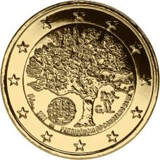 Portugali 2007 2 € EU-puheenjohtajuus KULLATTU