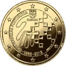 Portugali 2015 2 € Punainen risti 150 vuotta KULLATTU