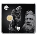 Ranska 2017 2 € Auguste Rodin COINCARD